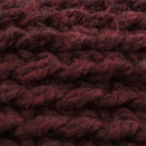 Scarf burgundy- double strand hand knit